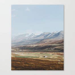 Icelandic Farm Country Canvas Print