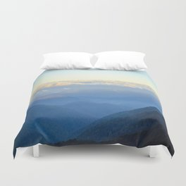 Clouds at eye level  Duvet Cover