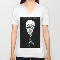 true detective V-neck T-shirts featuring True Detective by Grownup Kids