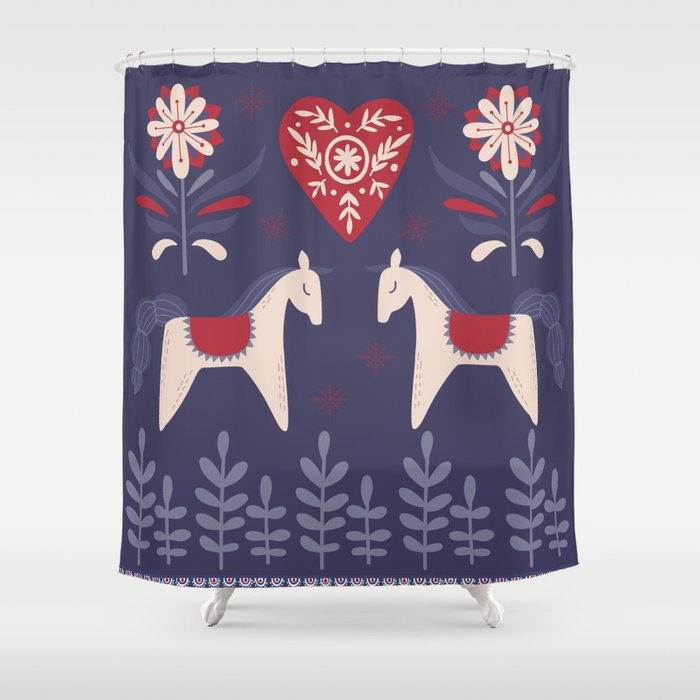 Swedish Christmas Shower Curtain