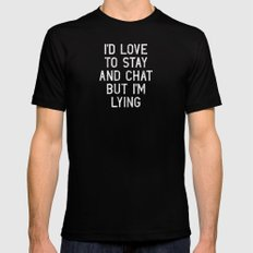 Chat Black Mens Fitted Tee LARGE