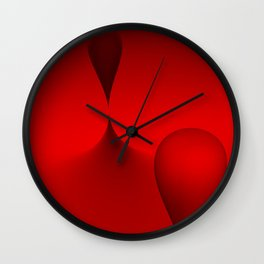the color red Wall Clock