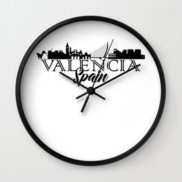 Valencia, Spain Skyline Wall Clock