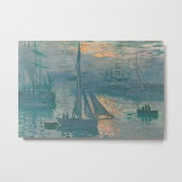 Claude Monet - Marine Sunrise, 1873 Metal Print