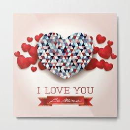 Love heart in pink Metal Print