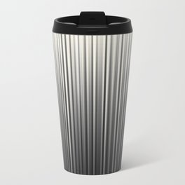 Soft Industrial Cream and Black Blended Random Vertical Lines Metal Travel Mug