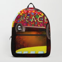 Hippie Van In Space Backpack