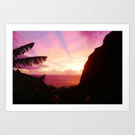 St Lucian Sunset Art Print