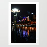 melbourne Art Prints featuring Melbourne by Komorebi Photographics