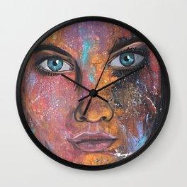 teal eyes Wall Clock