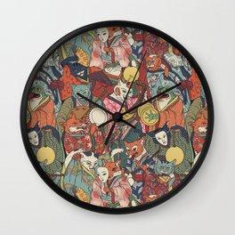 Night parade Wall Clock