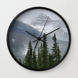 Misty Mountain Top Wall Clock