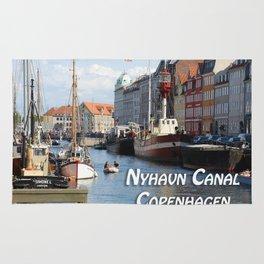Nyhavn Canal Copenhagen Denmark Rug