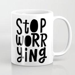 stop worrying x typography Coffee Mug