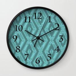 Satin Diamonds Wall Clock