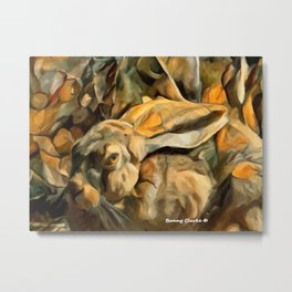 Splitting Hares Metal Print