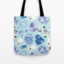 Chinoiserie Curiosity Cabinet Toss 4 Tote Bag
