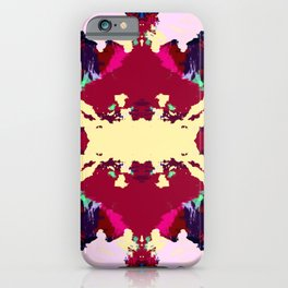 Iku - Abstract Batik Butterfly Ink Blot Mandala Boho Art iPhone Case