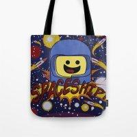 spaceship Tote Bags featuring Spaceship!  by Brieana