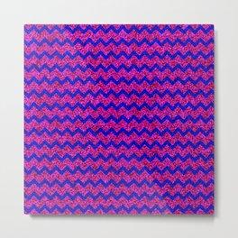Chevron Glitter Pattern 02 Metal Print