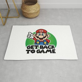Get Back To Game Mario Bros Rug