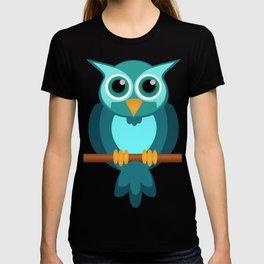 Blue Chibi Owl T-shirt