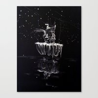 castle in the sky Canvas Prints featuring Sky Castle by Phoebe Mehit