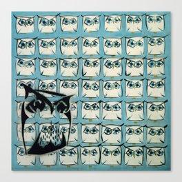 Sea of owls Canvas Print