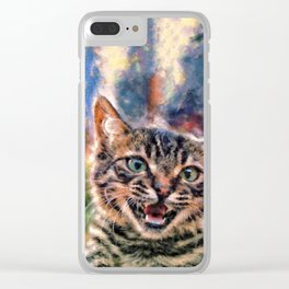 Hello Wild Little Beast Clear iPhone Case