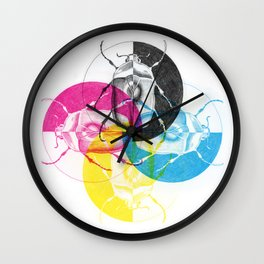 CMYK Scarab Wall Clock