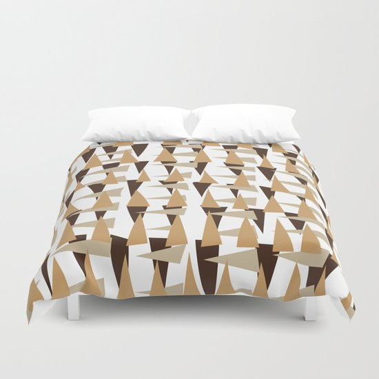 brown spearheads Duvet Cover