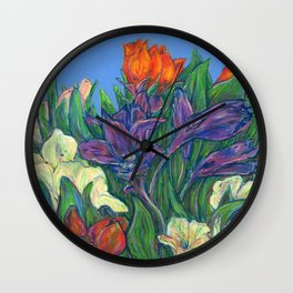 New Years Bouquet  Wall Clock