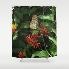 Fort Fisher Butterfly Shower Curtain