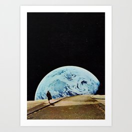 Moon walking Art Print
