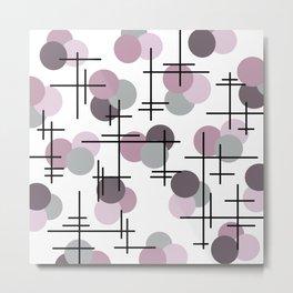 Atomic Age Molecules 5 Mauve Lavender Metal Print