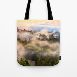 Coastal Fog Over Mount Tamalpais Tote Bag