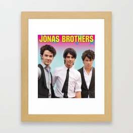 JONAS BROTHERS TOUR 2019 JANETYOLANDA #JY22 Framed Art Print