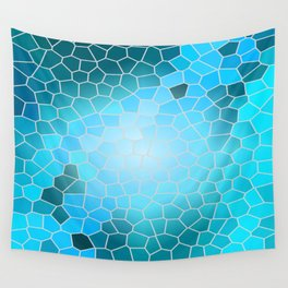 Blue Colorful Windows Wall Tapestry