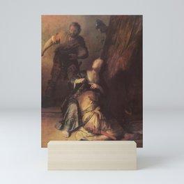 Rembrandt - Samson betrayed by Delilah Mini Art Print
