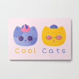 Cool Cats Metal Print