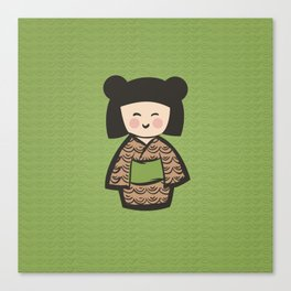 Geisha Dress Code (green) Canvas Print