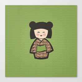 Geisha Dress Code (green) Canvas Print
