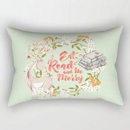 Eat, Read & Be Merry - Deer Rectangular Pillow