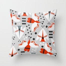 Decorated butterflies Throw Pillow