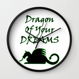 Dragon Of Your Dreams (Black) Wall Clock