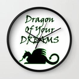 Dragon Of Your Dreams (Black) Wall Clock