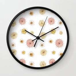 Pink & Yellow Happiness Wall Clock