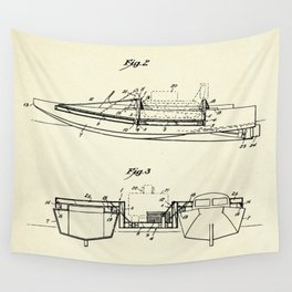 Pontoon Boat 02-1944 Wall Tapestry