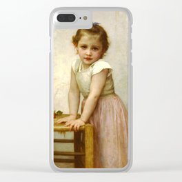 """William-Adolphe Bouguereau """"Yvonne"""" Clear iPhone Case"""