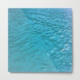 Cerulean Water Pattern Metal Print
